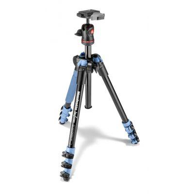 Manfrotto Foto Kit Traveller con testa a sfera, 4 sezioni alluminio blu MKBFRA4L-BH
