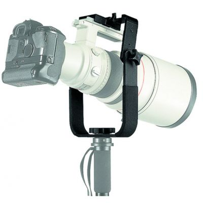 "Manfrotto Lighting Staffa ad""U"" per teleobiettivi 393"