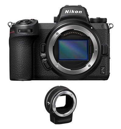 Fotocamera Mirrorless Nikon Z7 Mark II Body [MENU ENG] + adattatore FTZ