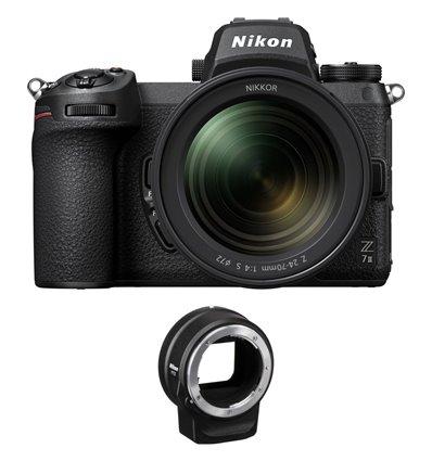 Fotocamera Mirrorless Nikon Z7 Mark II kit 24-70mm F4S [MENU ENG] + adattatore FTZ