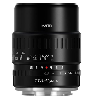Obiettivo TTArtisan 40mm F2.8 Macro APS-C - Micro Quattro Terzi