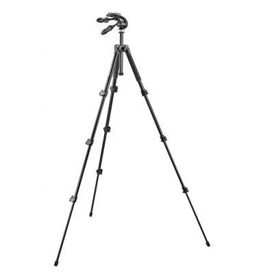 Manfrotto Foto Serie 290 kit alu 4 sezioni e testa pieghevole a 3 movimenti MK293A4-D3Q2