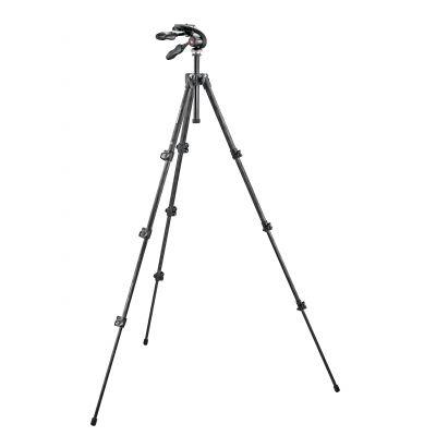 Manfrotto Foto Serie 290 kit CF 4 sezioni e testa pieghevole a 3 movimenti MK293C4-D3Q2