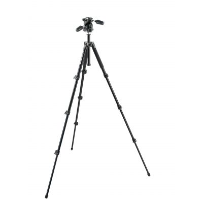 Manfrotto Foto Kit 294 alu + testa a 3 movimenti e Quick Release RC2 4 sez. MK294A4-D3RC2