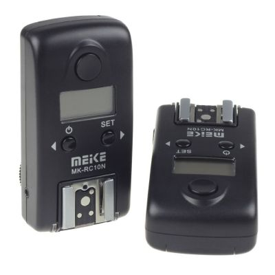 Meike MK-RC10N N1 (Nikon MC-30) Wireless LCD TTL Studio Flash Trigger x Nikon D100 D200 D300 D700 D3 D3S