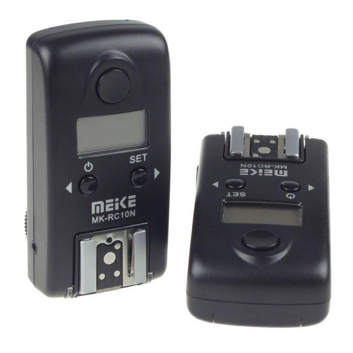 Meike MK-RC10N N1 (Nikon MC-30) Wireless LCD TTL Studio Flash Trigger x Nikon D100 D200 D300 D700 D3 D3S