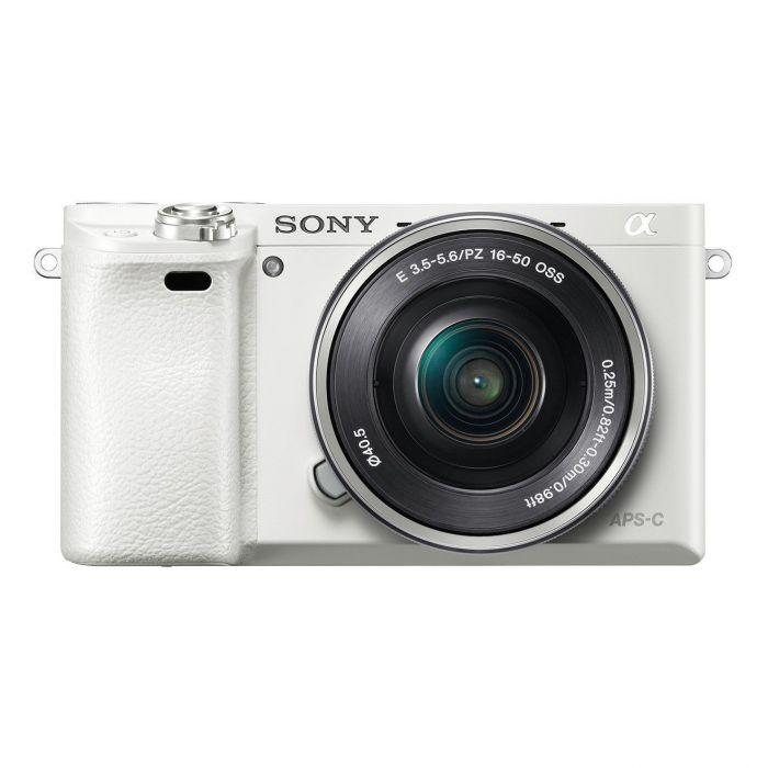Fotocamera Sony Alpha ILCE-6000L Kit 16-50mm f/3.5-5.6 OSS Bianco (MENU ENG)