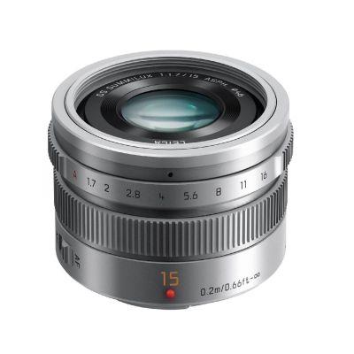 Obiettivo Panasonic LEICA DG SUMMILUX 15mm F1.7 ASPH Silver Lens