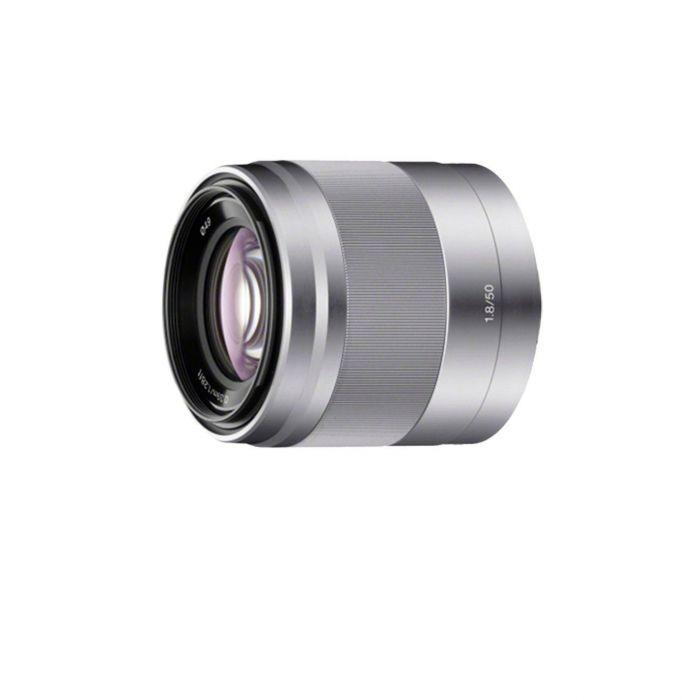 Obiettivo Sony E 50mm F1.8 OSS x NEX SEL50F18 Silver Lens