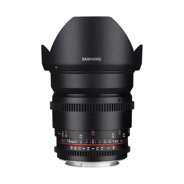 Obiettivo Samyang 16mm T2.2 ED AS UMC CS II VDSLR x Canon Lens