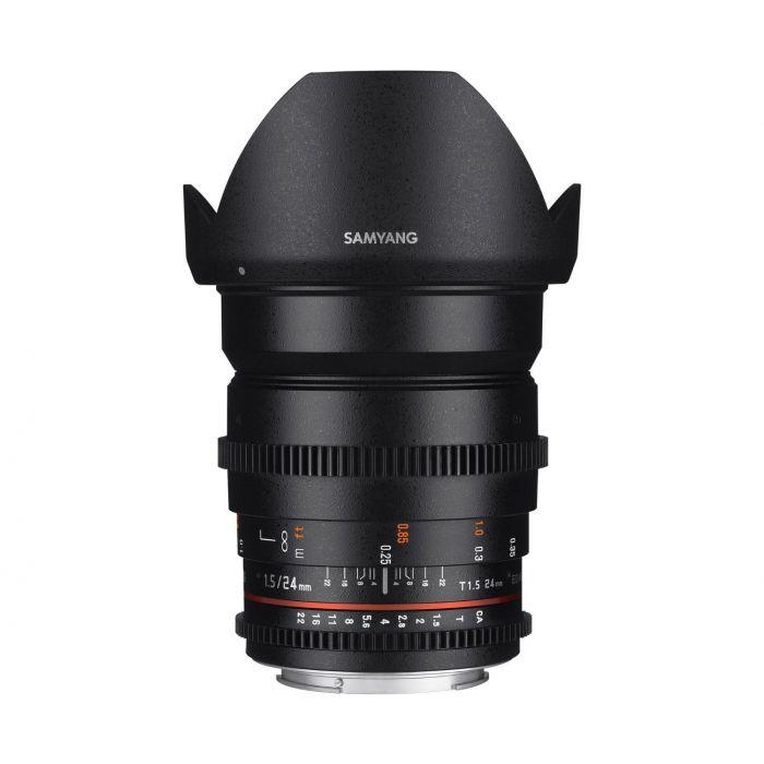 Obiettivo Samyang 24mm T1.5 ED AS UMC VDSLR II x Canon Lens