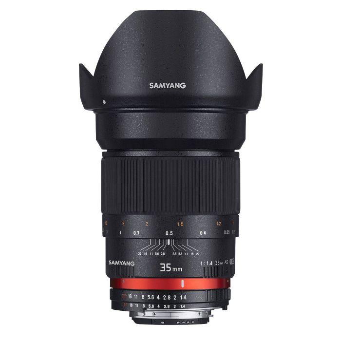 Obiettivo Samyang 35mm f/1.4 AS UMC x Micro Quattro Terzi Lens