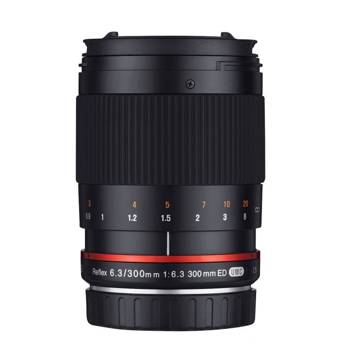 Obiettivo Samyang 300mm f/6.3 Mirror Lens Nero x Micro Quattro Terzi Lens