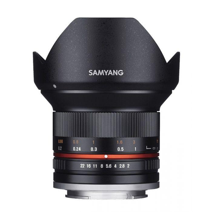 Obiettivo Samyang 12mm f/2.0 NCS CS Nero x Micro Quattro Terzi Lens