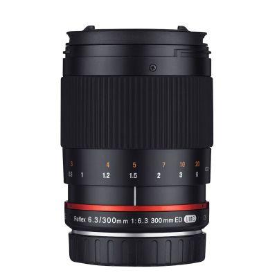 Obiettivo Samyang 300mm f/6.3 Mirror Lens Nero x Fujifilm Fuji X