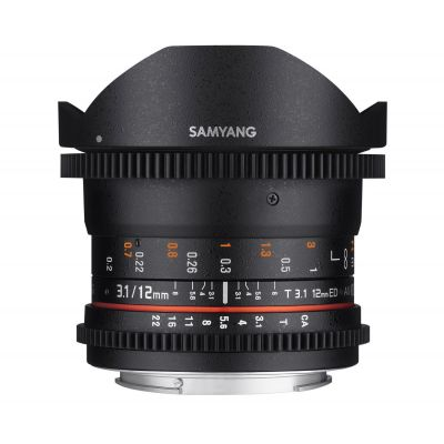 Obiettivo Samyang 12mm T3.1 VDSLR ED AS NCS Fisheye x Sony A-Mount Lens