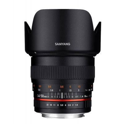 Obiettivo Samyang 50mm f/1.4 AS UMC x Sony E-Mount Lens