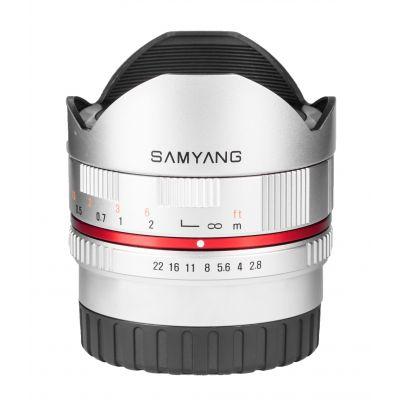 Obiettivo Samyang 8mm f/2.8 UMC Fish-eye x Samsung NX Argento
