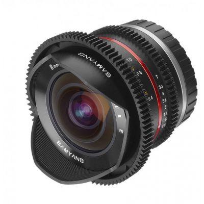 Obiettivo Samyang 8mm T3,1 UMC Fish-eye x Fujifilm Fuji X VDSLR Video