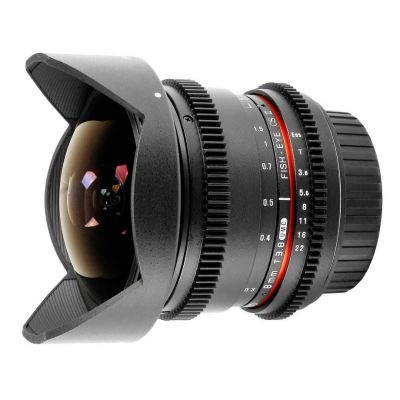 Obiettivo Samyang 8mm T3.8 Fish-eye x Canon VDSLR Video Mark II MkII