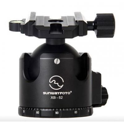 Sunwayfoto XB-52 Testa per treppiedi con Screw Knob Clamp