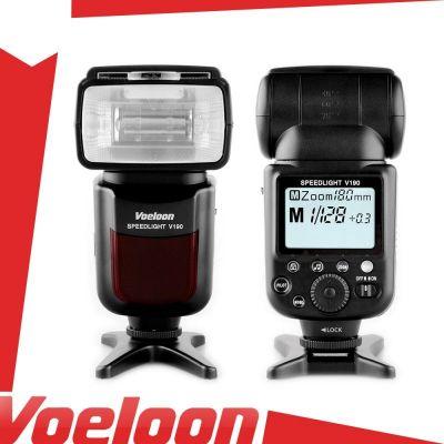 Voeloon Flash manuale V190 (GN55) illuminatore universale Canon Nikon Pentax Olympus Panasonic Samsung