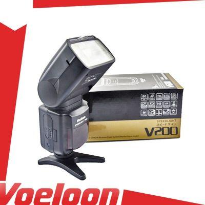 Voeloon Flash manuale V200 (GN50) illuminatore universale Canon Nikon Pentax Olympus Panasonic Samsung