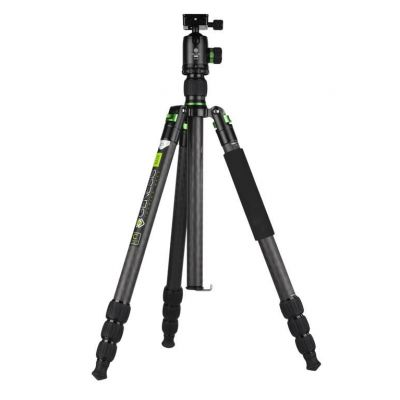 Genesis Base C5 kit treppiedi verde cavalletto tripod treppiede + testa BH-40