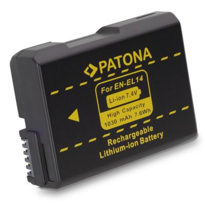 Patona Batteria 1134 EN-EL14 x Nikon D5500 D5300 D5200 D5100 D3300 D3200 D3100