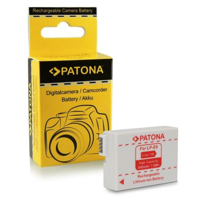 Patona Batteria 1077 LP-E8 x Canon 550D 600D 650D 700D 750D